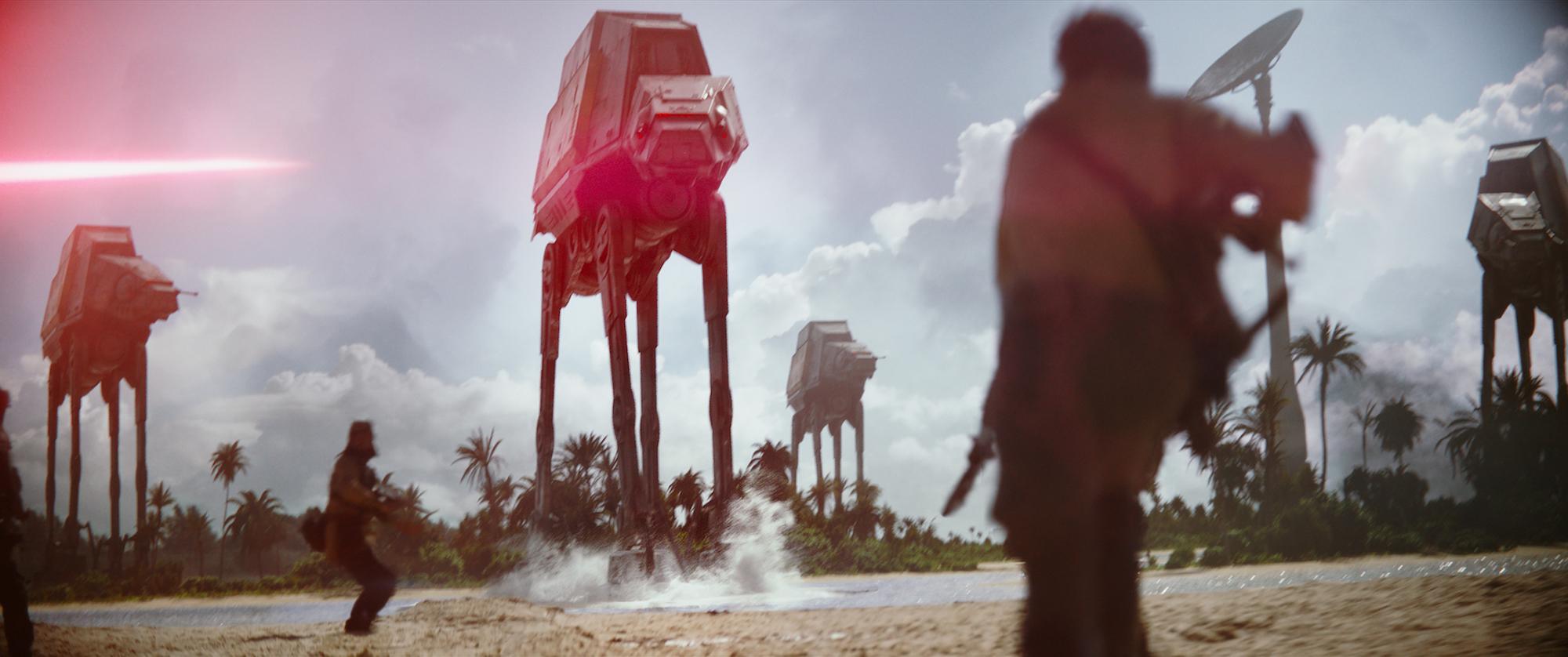 Opprørerne må kjempe hardt mot Imperiets gedigne robotkrigere.