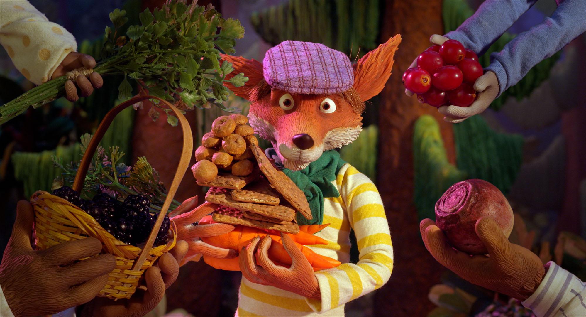 Mikkel Rev får beskjed om å slutte å spise de andre dyrene i skogen.