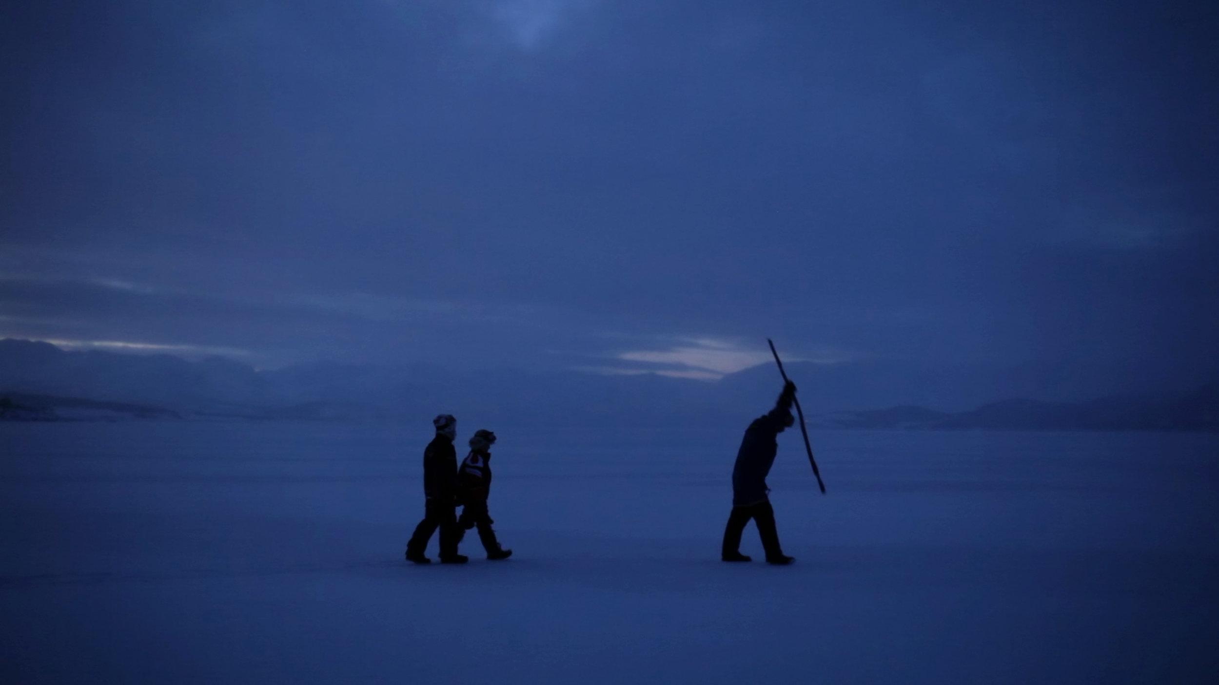 Isen ligger tjukk på Møsvatn. Men er den tjukk nok?