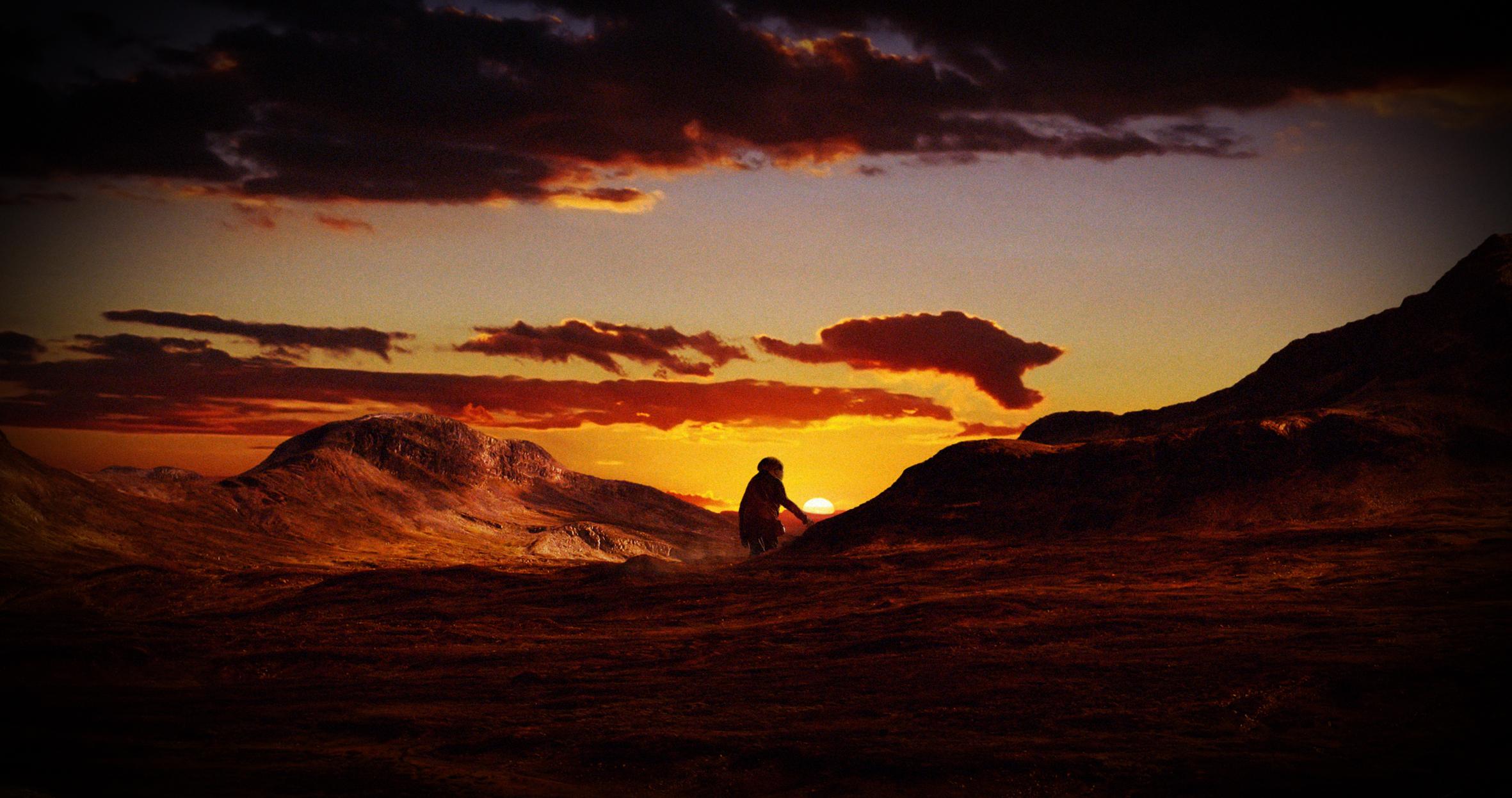 Lille Rikard forvandles til et stort troll som tråkker rundt i en fjellheim der petanque-kuler ligger strødd i lyng og lav.