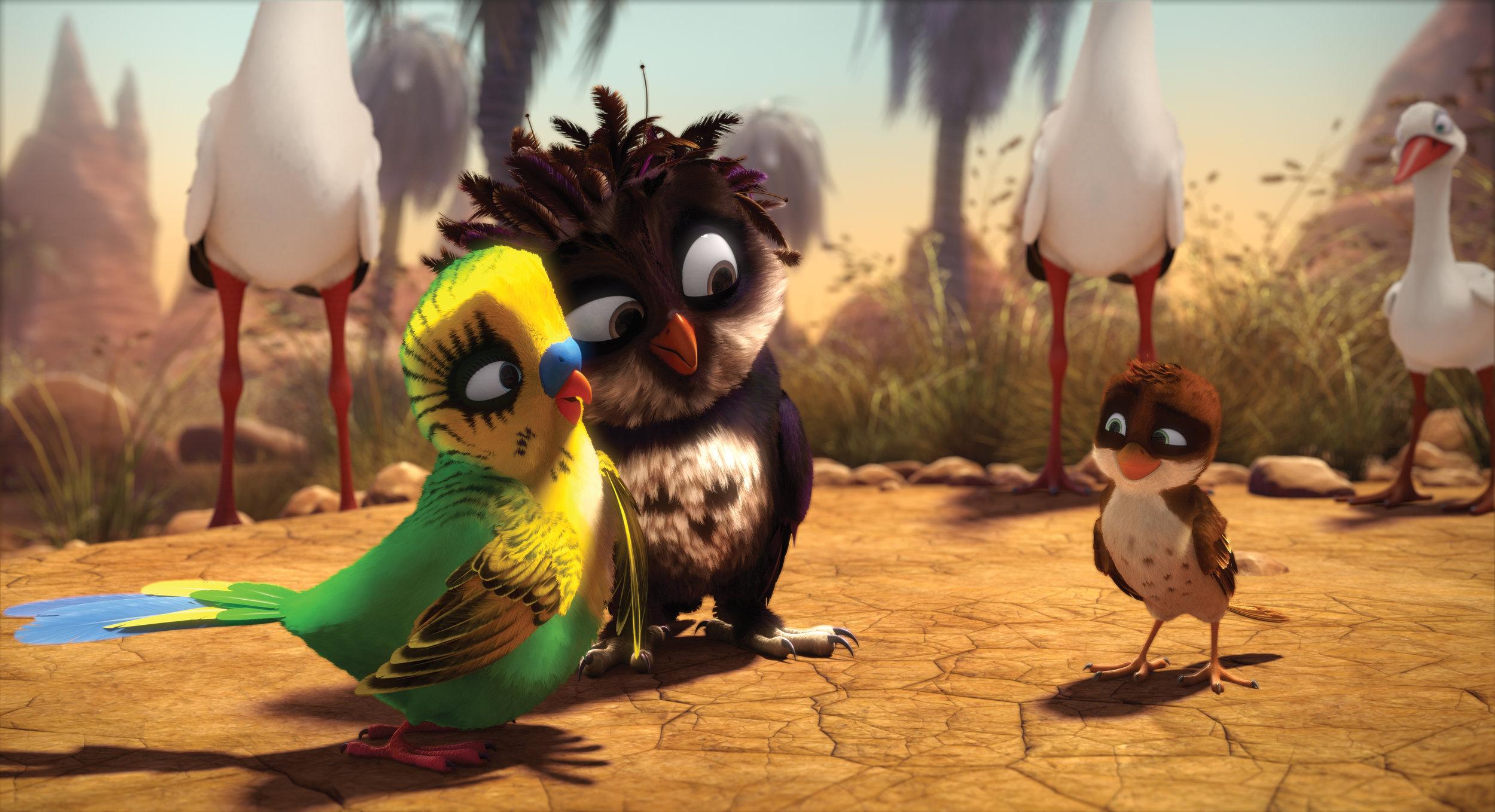 Den lille spurven Richard får hjelp av en undulat og en ugle til å komme seg til Afrika - mot alle odds.