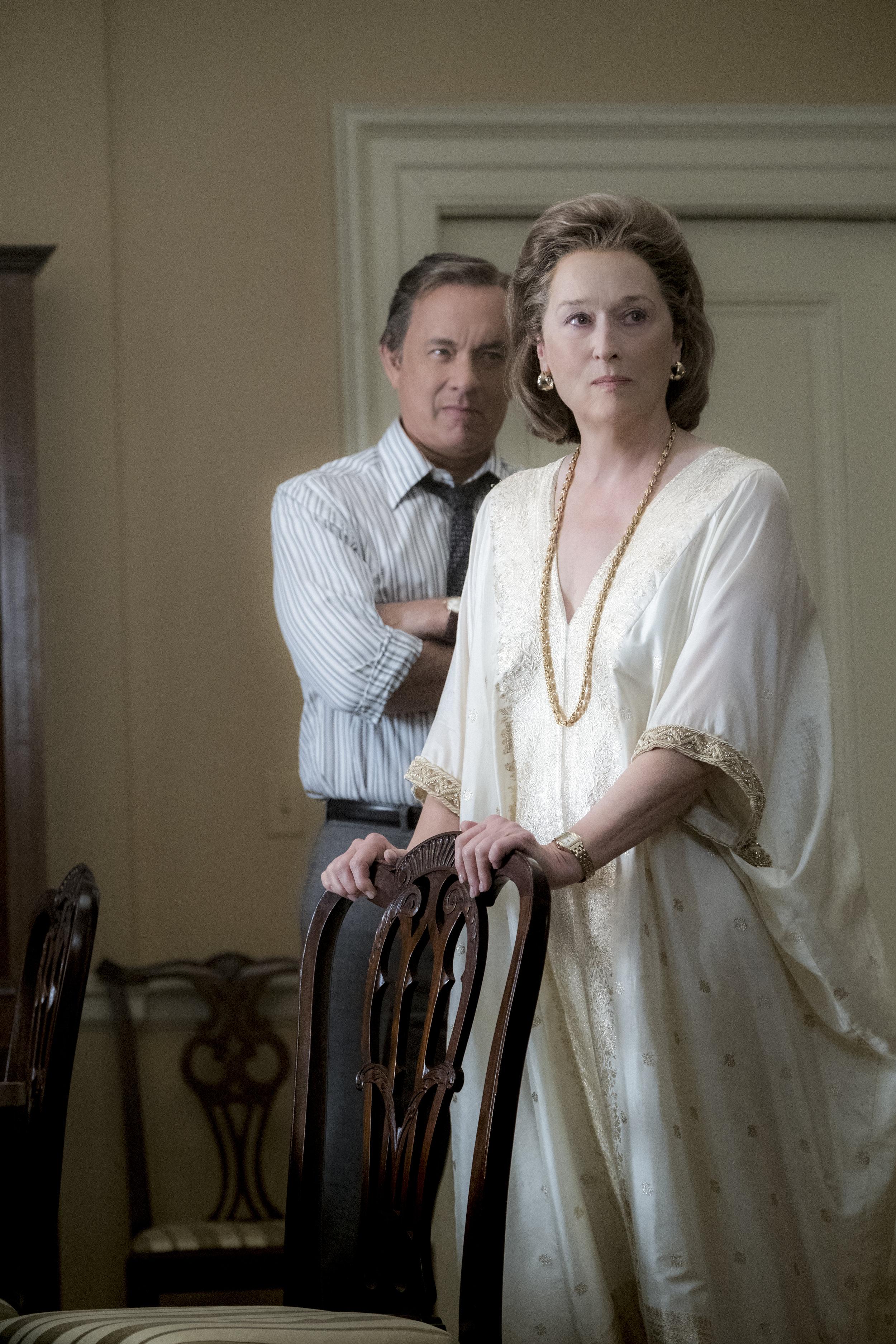 Bradlee (Tom Hanks) og Graham (Meryl Streep).