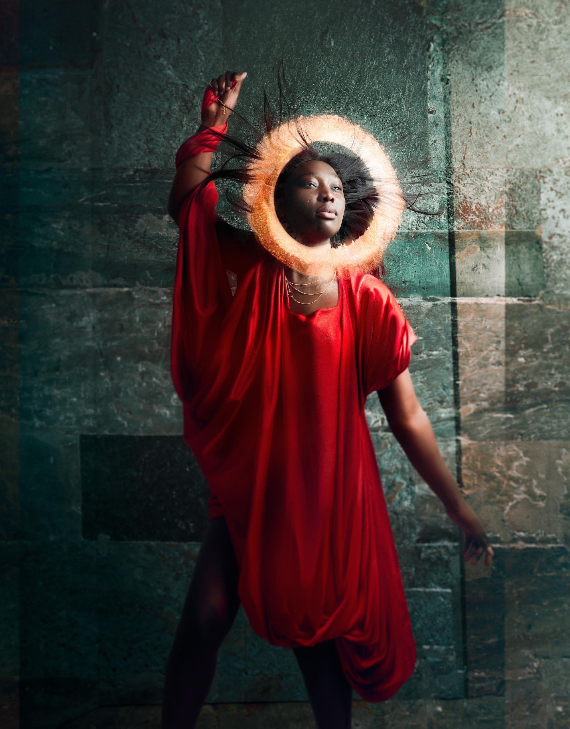 Skuespiller Penda Faal som Maria Magdalena. (Foto: Stig Håvard Dirdal)