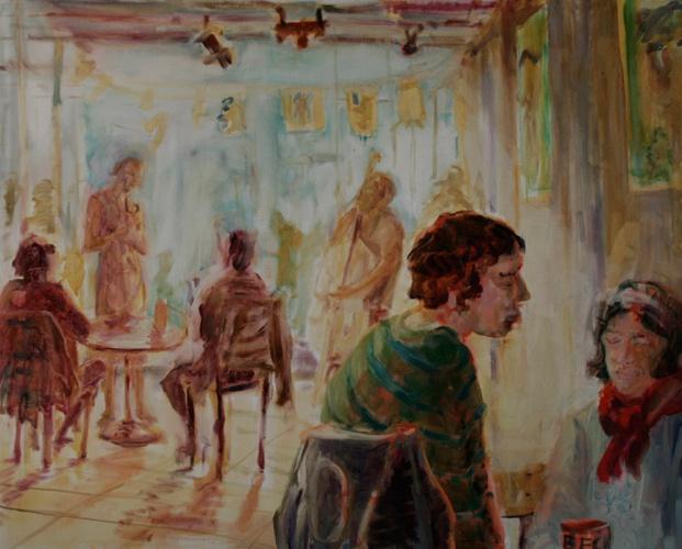 Cafe 2, Öl auf Leinwand, 2010, 100x80