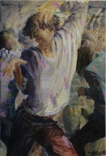 Tänzer 3, Öl auf Leinwand, 2010, 150x100
