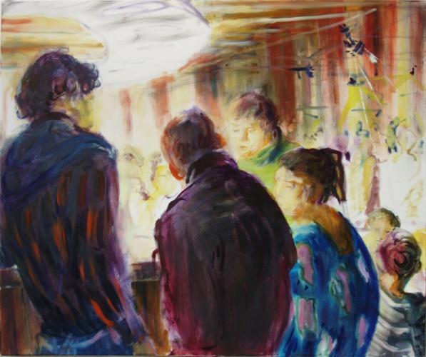 Cafe 1, Öl auf Leinwand, 2010, 100x80