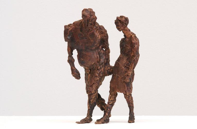 Zwei Laufende, Bronze, 2005, 12 cm