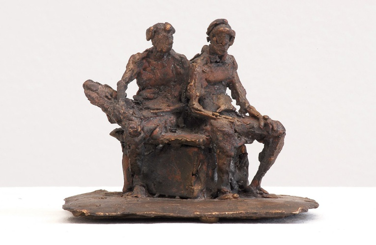 Zwei Männer, Bronze, 2005, 7,5 cm