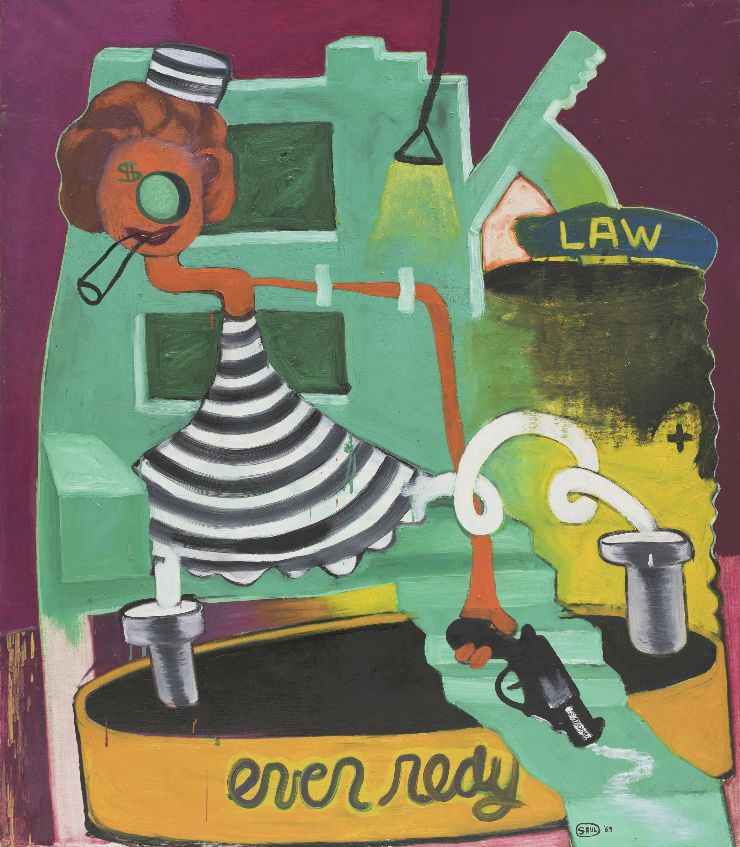 Crime Doesn't Pay, 1963, Öl auf Leinwand