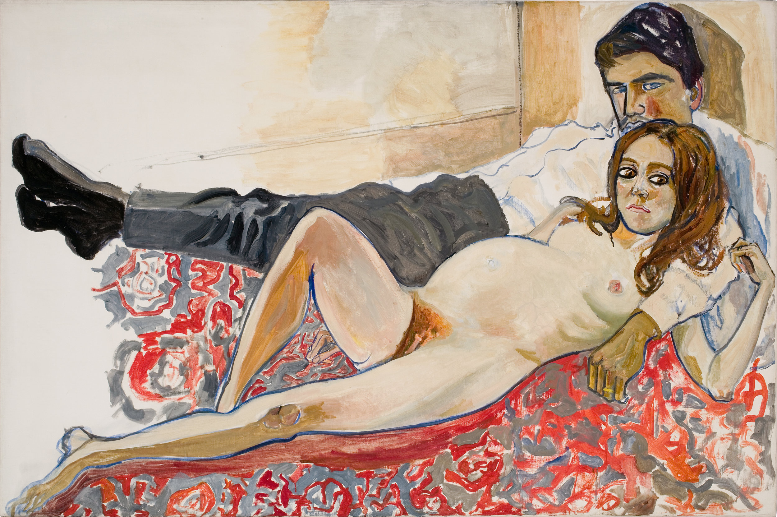 Alice Neel, Pregnat Julie and Algis, 1967, Foto: Malcolm Varon, Estate of Alice Neel