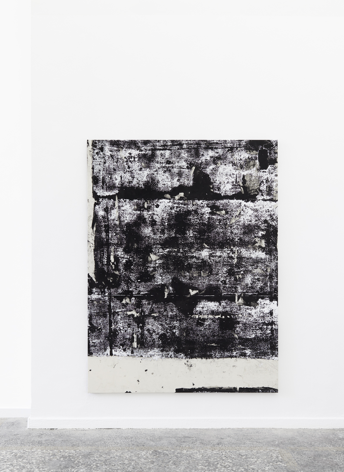 Laura Sachs, Constellation II, 240 x 180 cm, Ink, Dust and Acrylic on Canvas, 2018