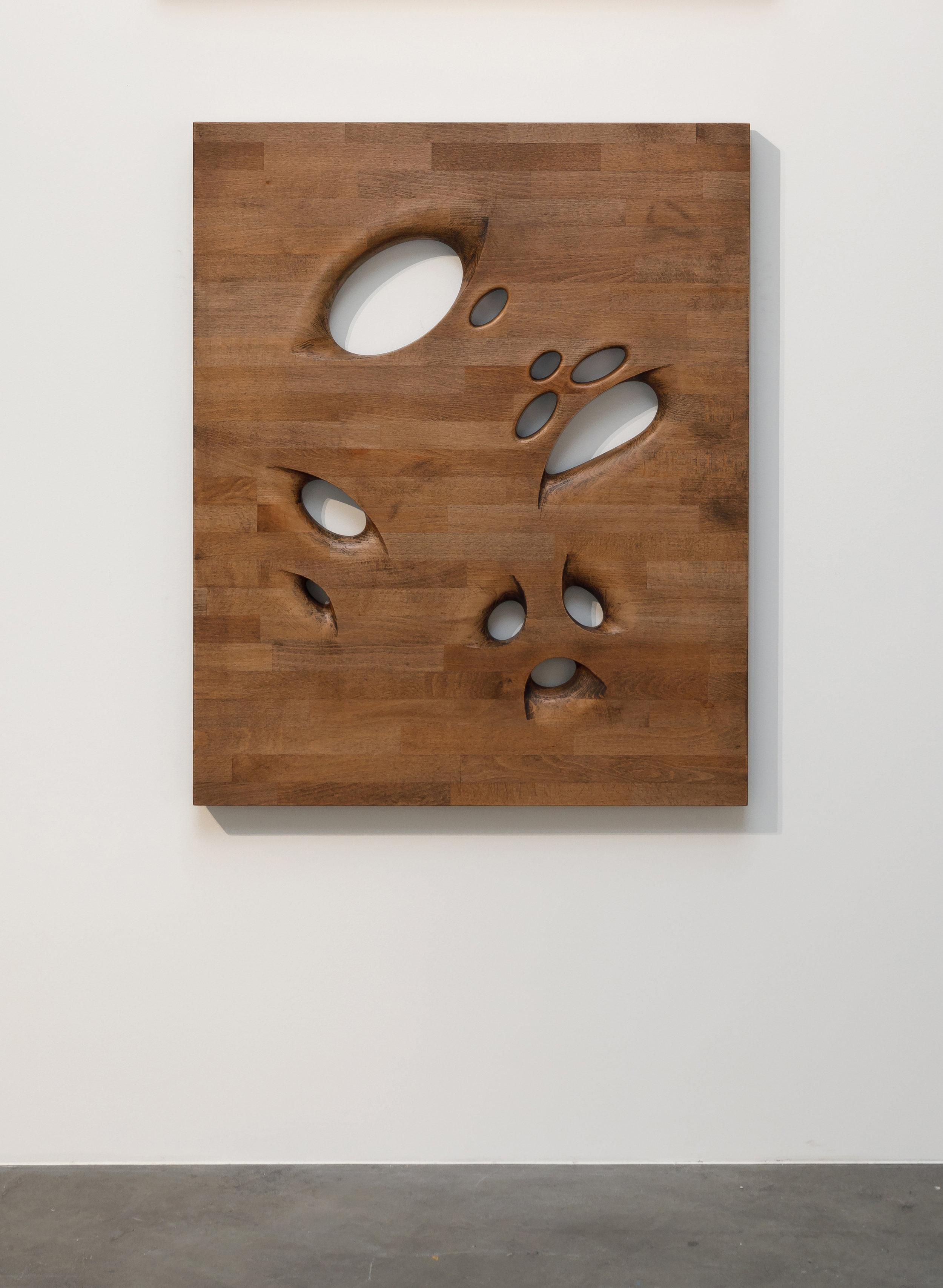 Richard Nikl, Assistant, 2017,Beech Wood, Hard Wax Oil, Aluminium Hardware,100 x 82 x 5 cm