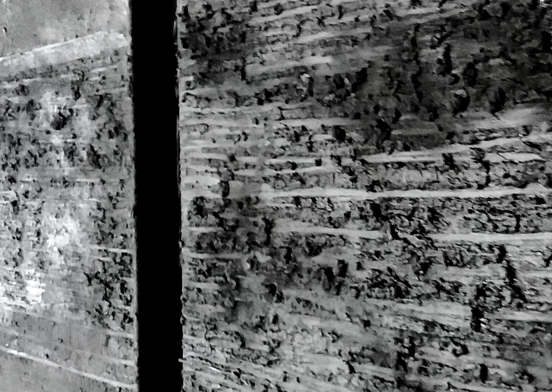 Diptychon, Detail, Pigmente auf Leinwand