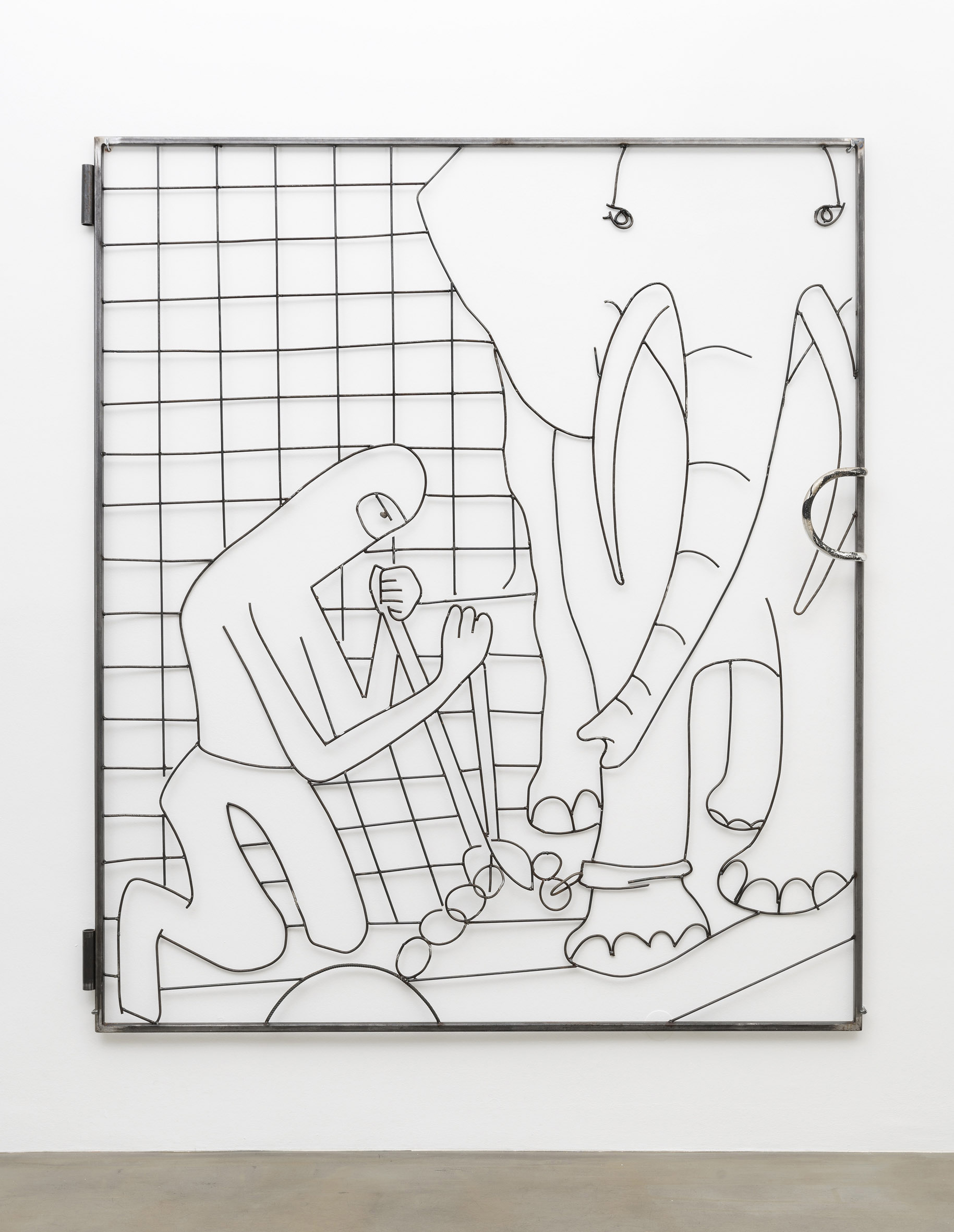 Lin May Saeed, The Liberation of Animals from their Cages XVII / Olifant Gate, 2016, Tool steel and lacquer, Courtesy Jacky Strenz, Frankfurt.; Nicolas Krupp, Basel; The artist, Foto: Wolfgang Günzel, Offenbach