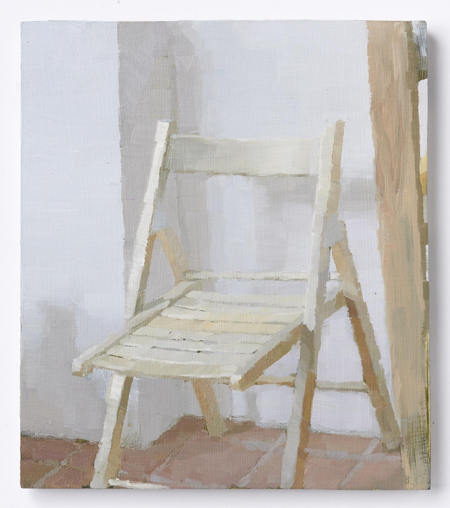 I rommet XI, 2018, Oil on plywood, 21 x 24 cm