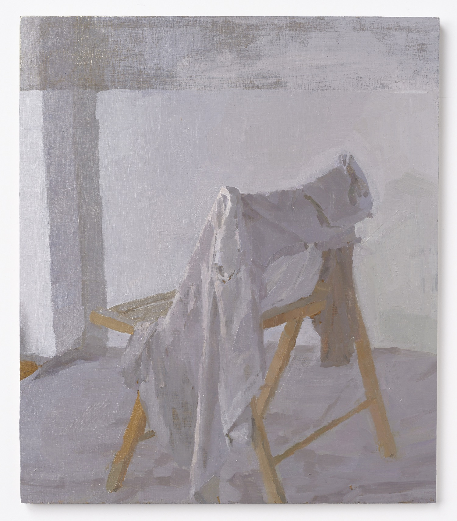I rommet XV, 2018, Oil on plywood, 30 x 40 cm