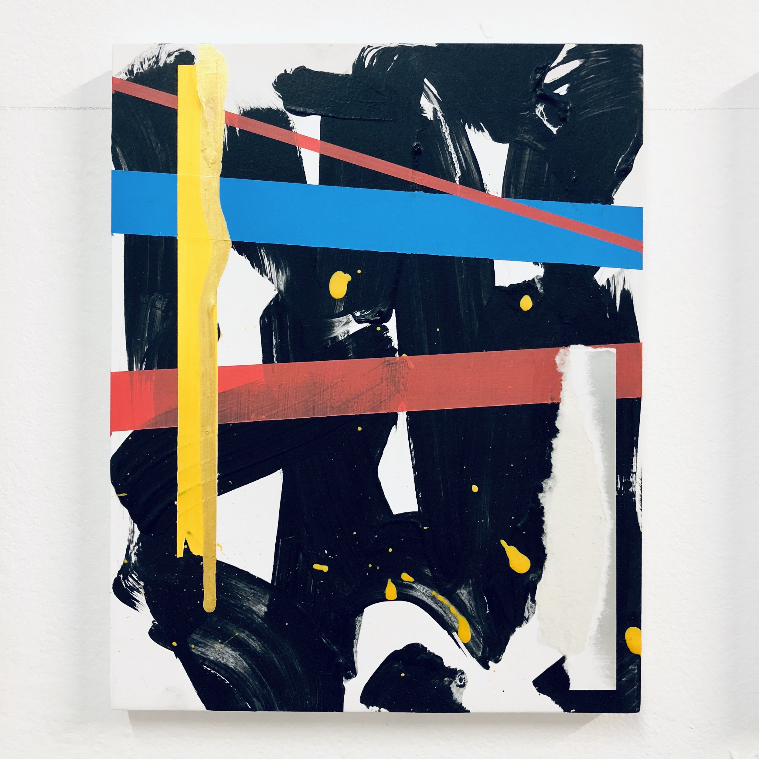 Michal Raz, Love Triangle, Mixed Media on Wood, 20 x 25 cm
