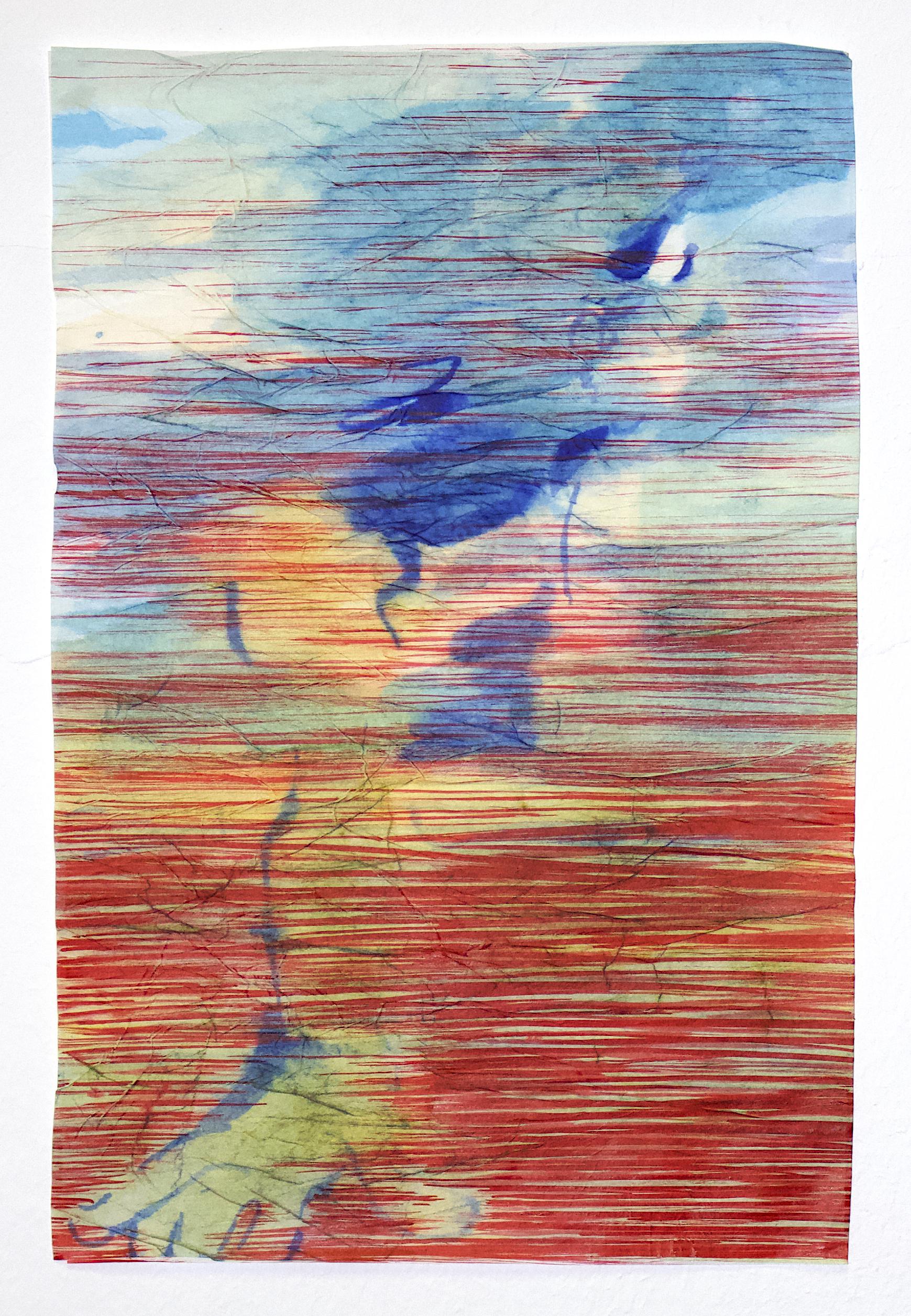 Mena Moskopf  Pool Pleasure Ink and Paste on Silk Paper 38 x 24 cm 740 EUR