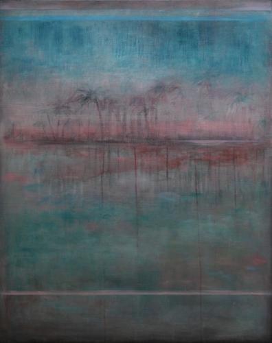 Remembering Places That Never Were, 2017 Eitempera und Öl auf Leinwand 80 x 100 cm
