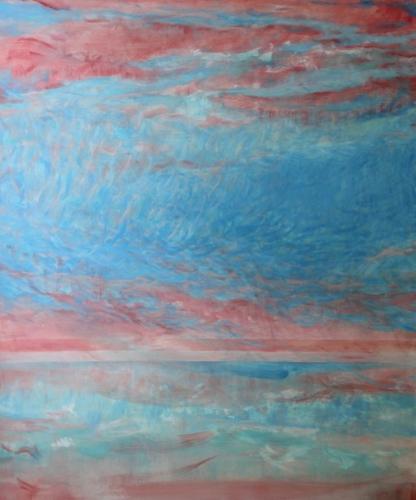 Ohne Titel, 2017 Quadriptychon 3 Eitempera und Öl auf Leinwand 100 x 120 cm