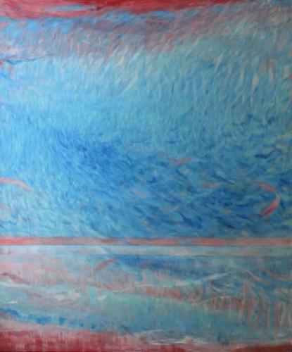 Ohne Titel, 2017 Quadriptychon 4 Eitempera und Öl auf Leinwand 100 x 120 cm