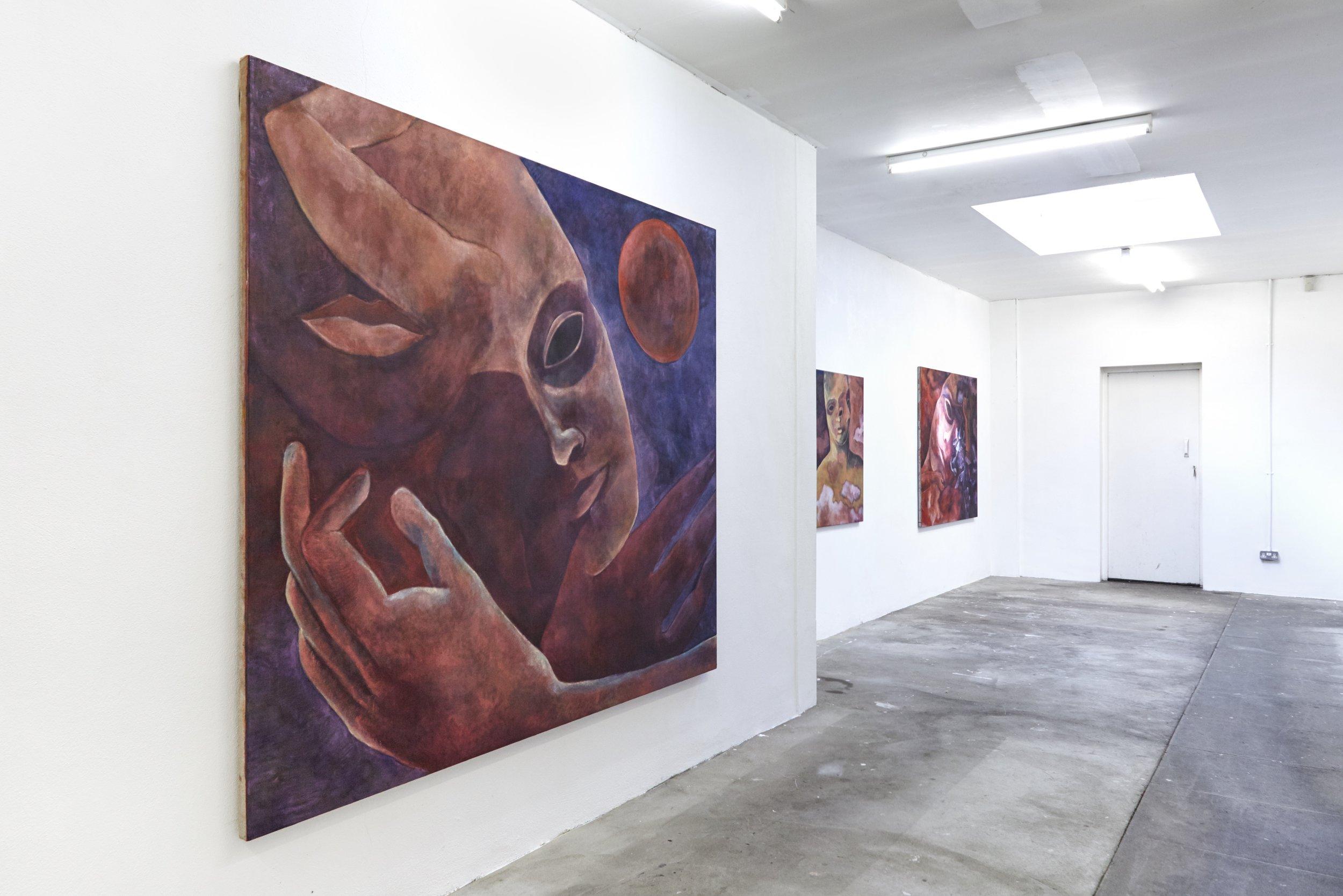 Installation View, Aurora Borealis #10, 2019, 180 x 210 cm