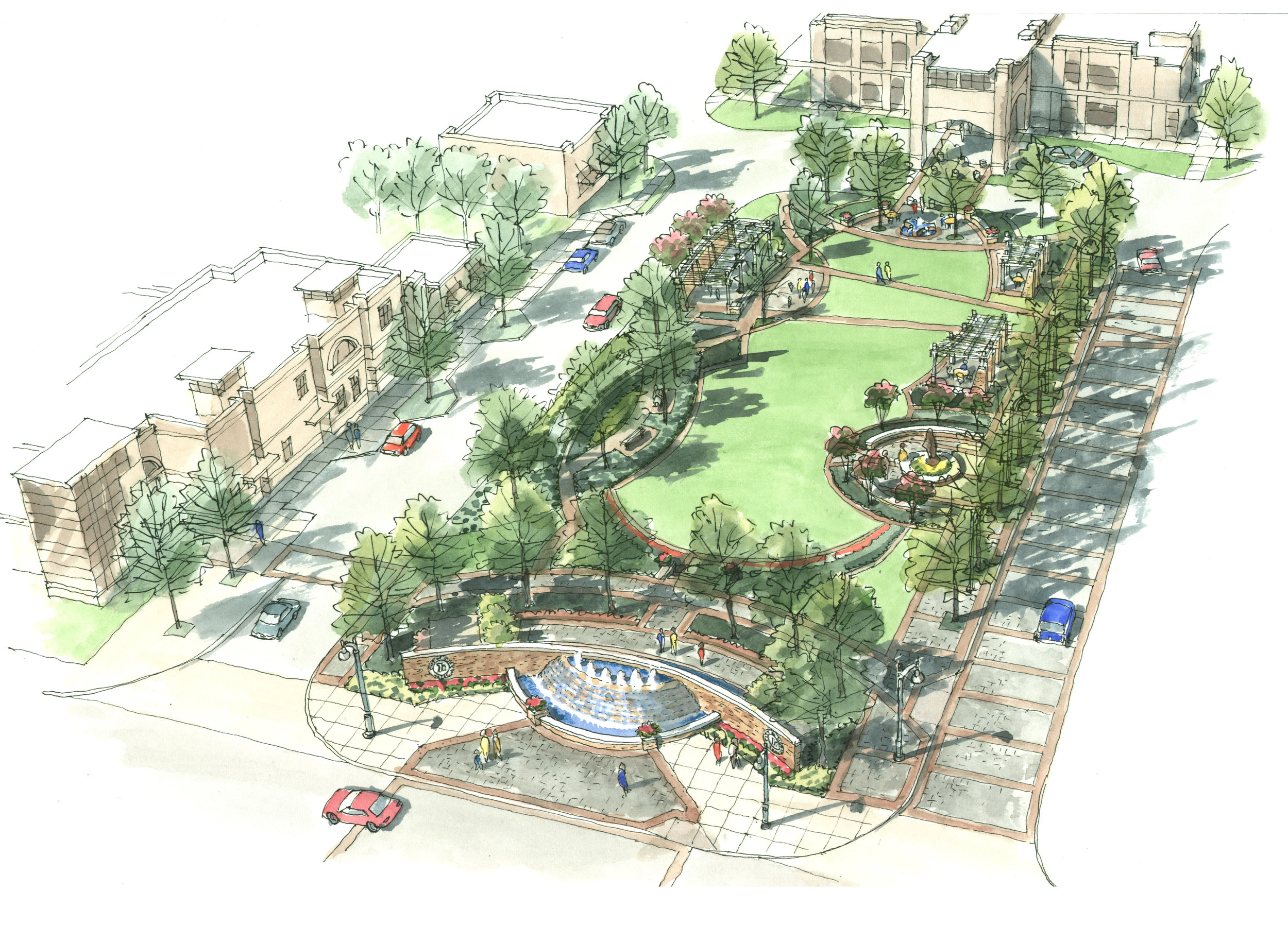HERITAGE VILLAGE AND PIPELINE ROAD STREETSCAPE