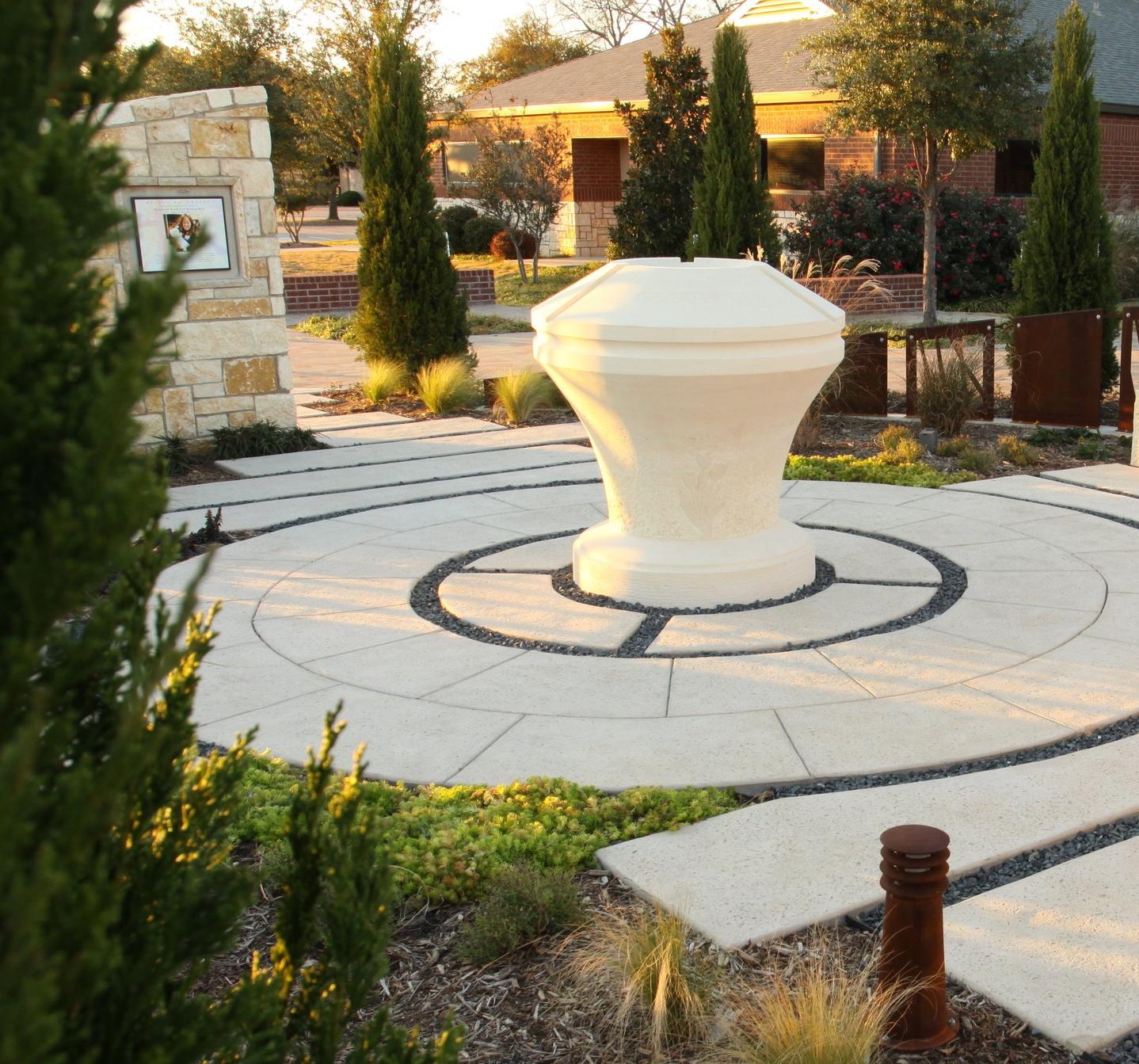 Memorila Baptistery Garden