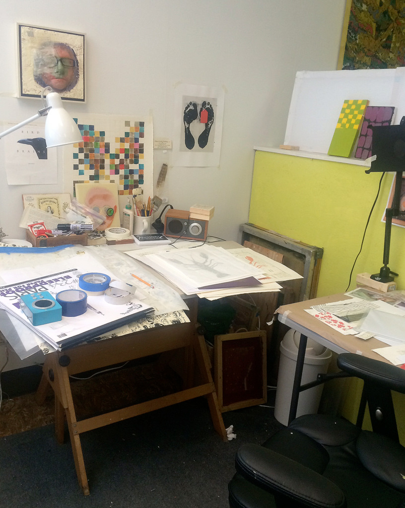 Studio space in Portland working among many other artists..