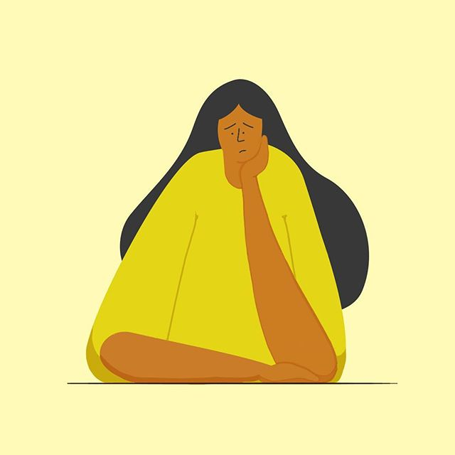 Chin up :) . . . . . . . . #illustration #vector #design #animation #styleframe #conceptframe #yellow #monochrome #character #characterdesign #characteranimation #sad #mentalhealth #film #documentary #filmmaking #cartoon #comic #illustrator #girl #gogirl #women #woman #girlboss