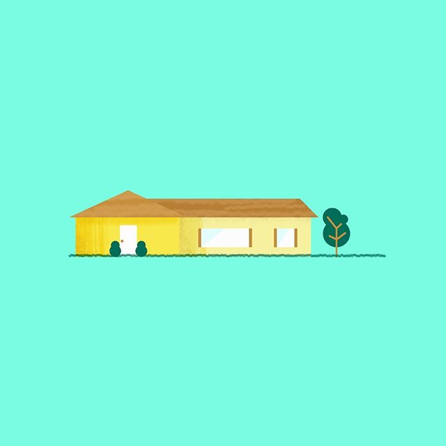 RANCH! . . . . . . . . #house #ranchstyle #suburbs #suburbia #architecture #design #icon #illustration #graphicdesign #adobe #graphic #geometric #motiondesign #motiongraphics #animation #styleframe #pitch #pitchvideo #explainer #tvshow #gameshow