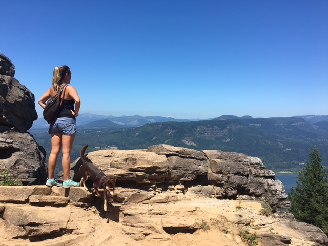 See what you want, know it's yours and just go for it! Me and Cookie after hiking Angels Rest just outside of PDX.