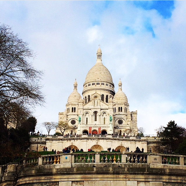 Sacre Couer - highest point of the City! Worth walking over taking the tram or a bus to the top!