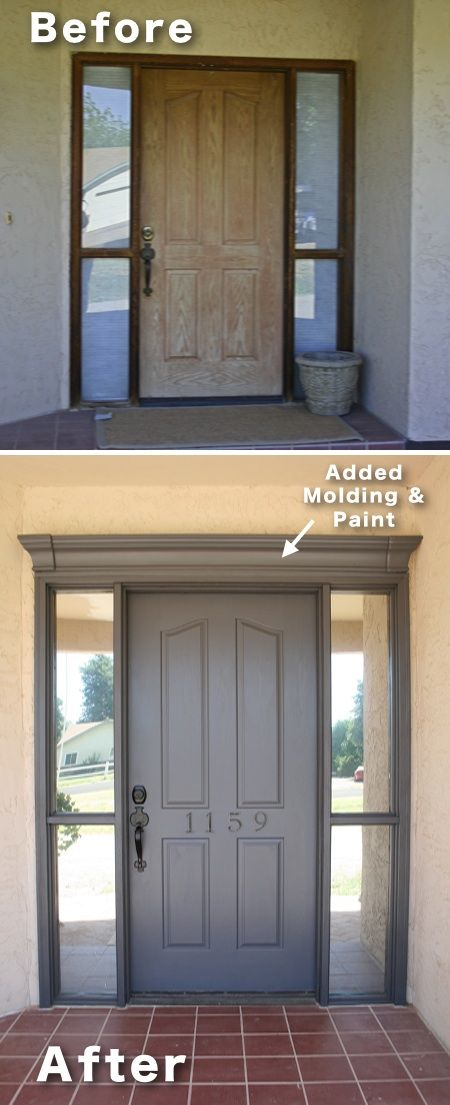 From Pinterest. What a difference an entrance makes!