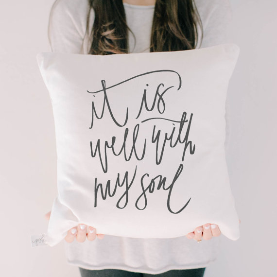 It is with you Throw Pillow