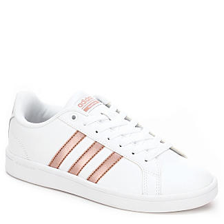Adidas Pink Stripe Tennis Shoes