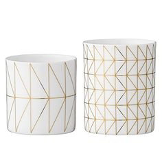 White & Gold Candle Holders