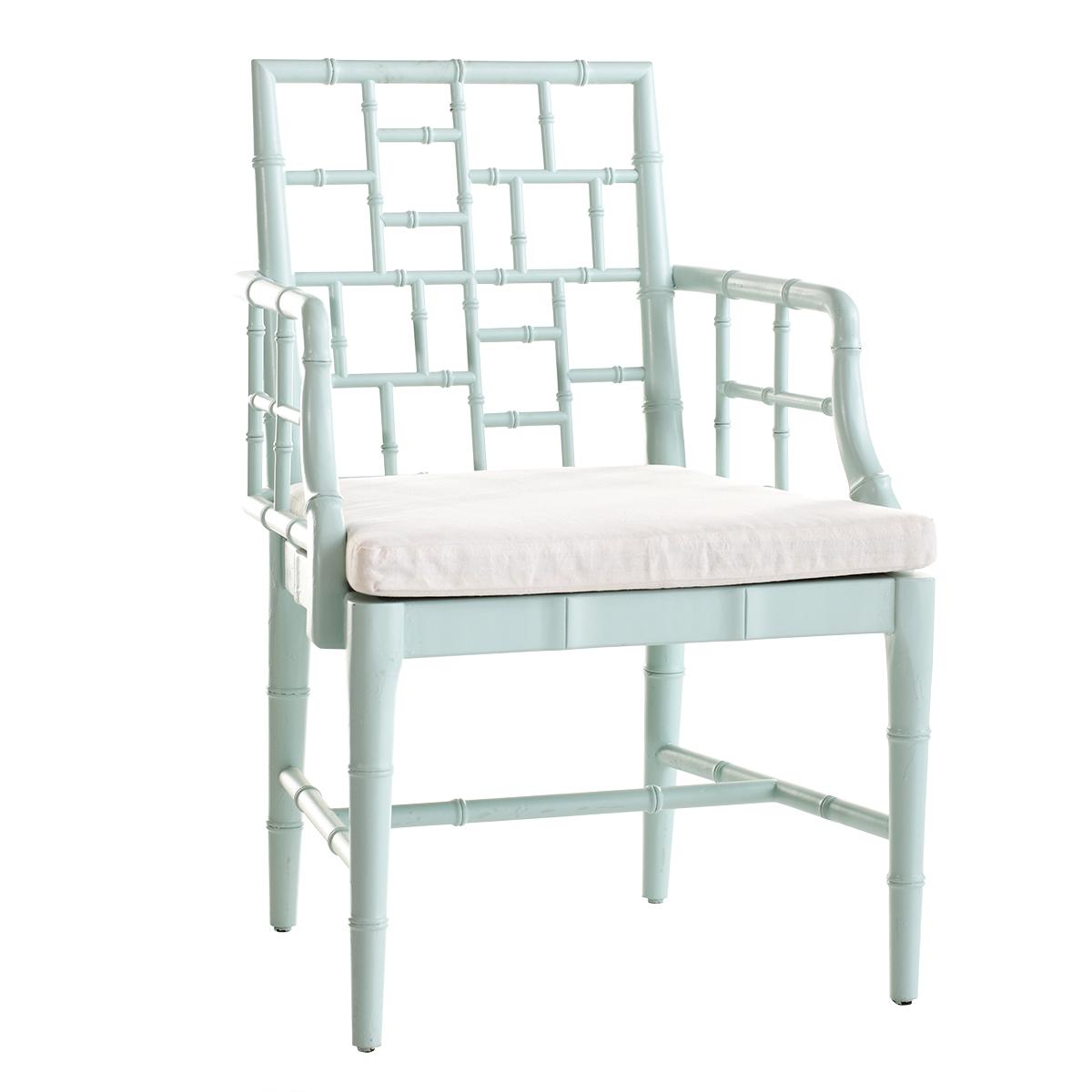 Light blue bamboo chair