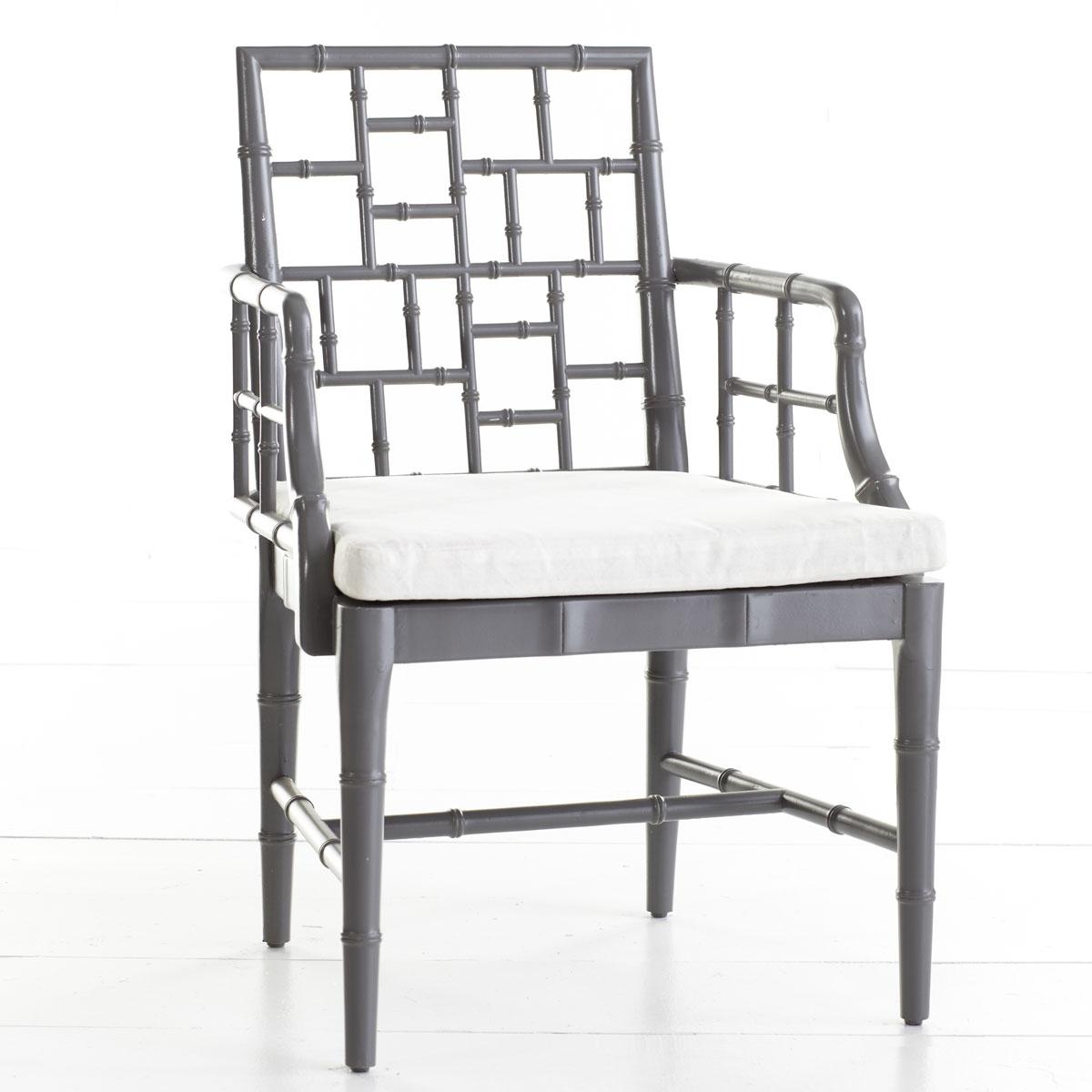 Grey Bamboo Chair