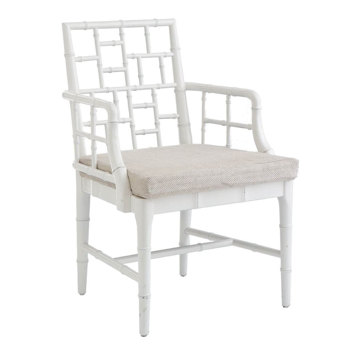 White Bamboo Chair