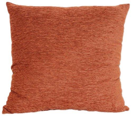 Rust Silk Throw Pillow