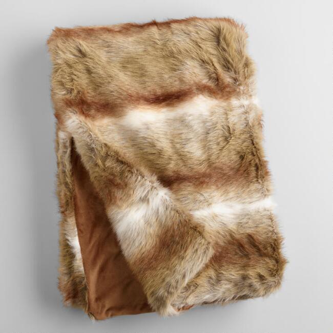Faux Fur Throw