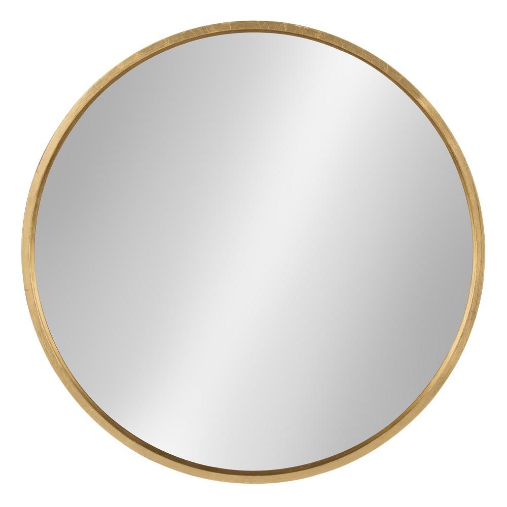 """25"""" Gold Round Mirror"""
