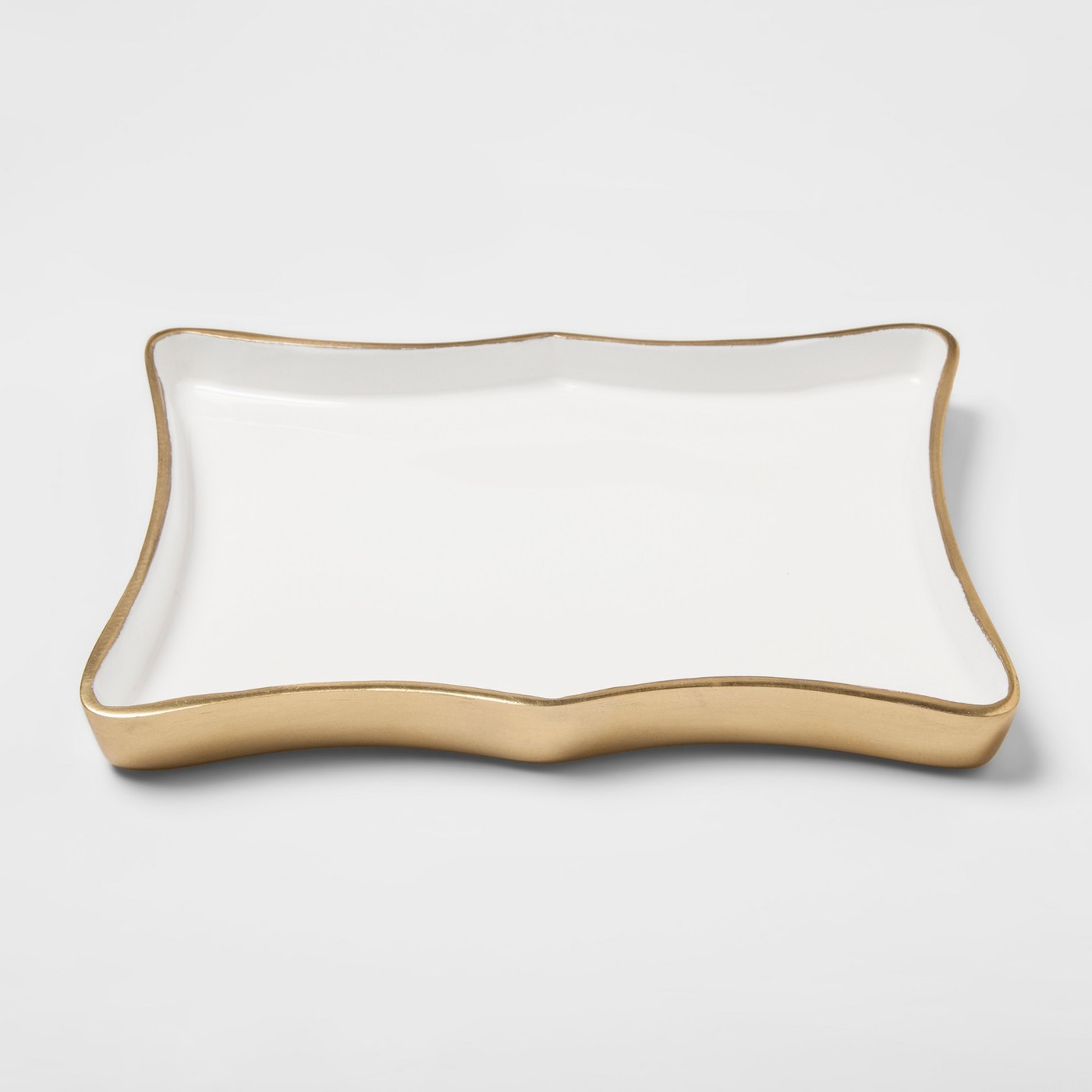 White and gold Tray