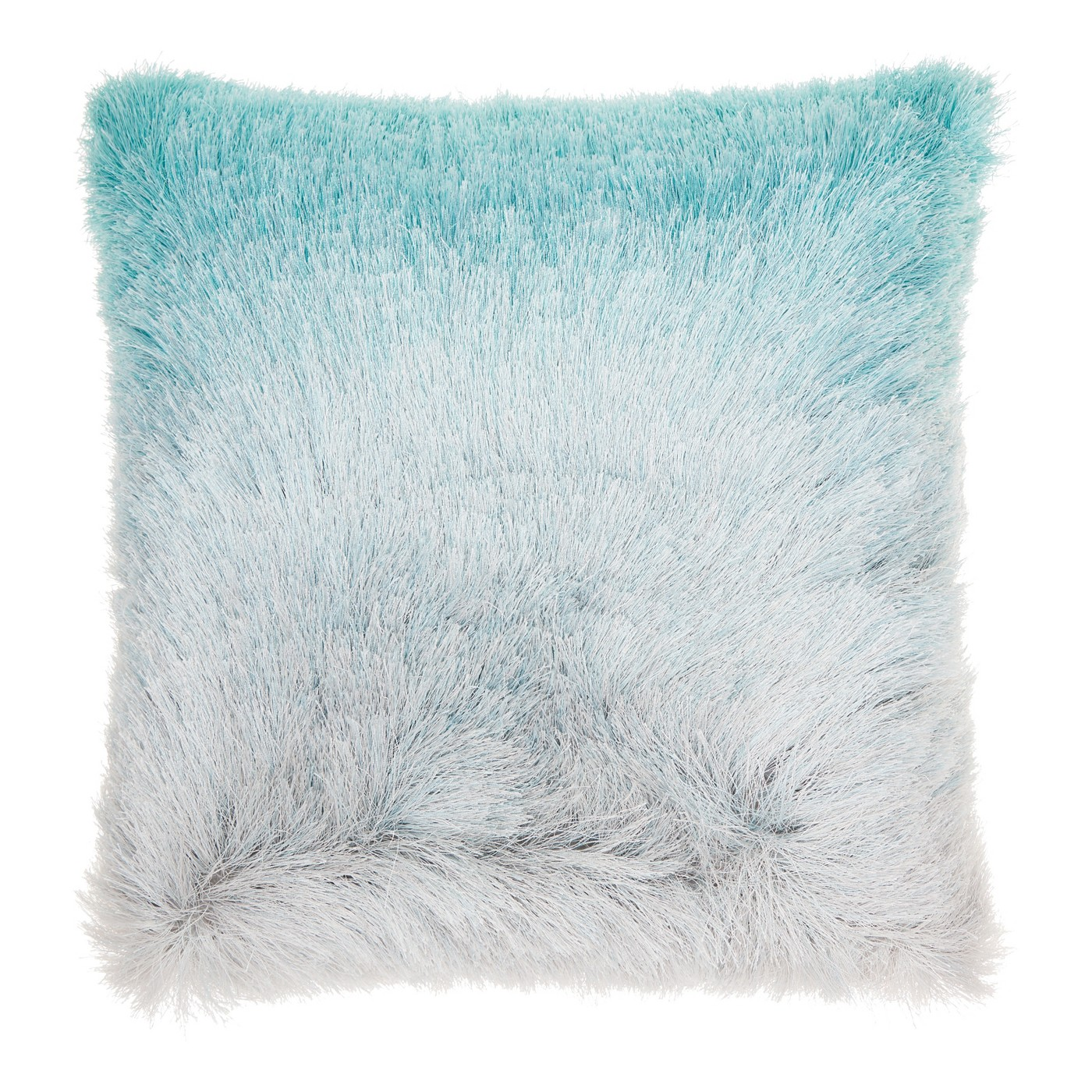 Teal Faux Fur Pillow