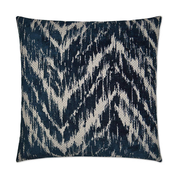 Textured Navy Throw Pillow