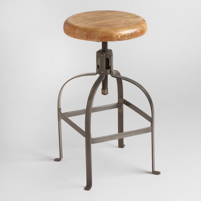 Round Wood Bar Stool
