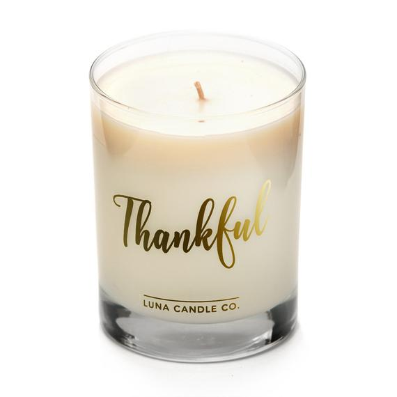 Thankful Candle Etsy