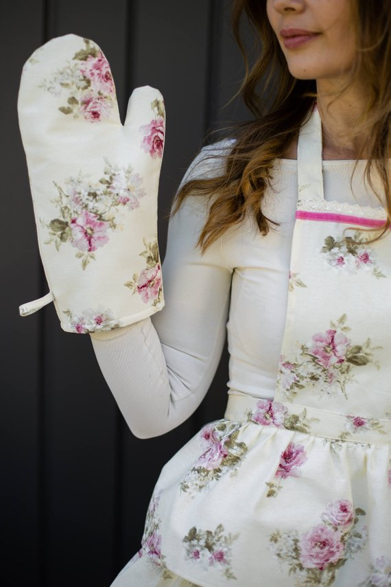 Etsy Floral Apron