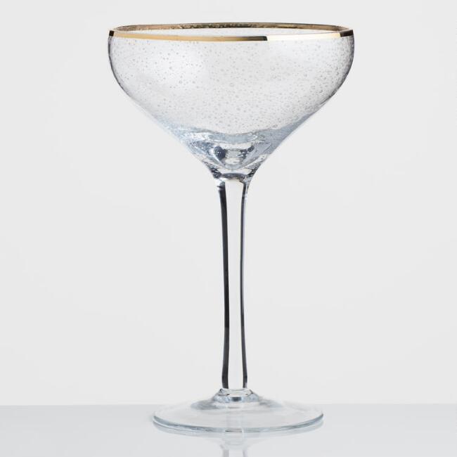 gold Martini glass